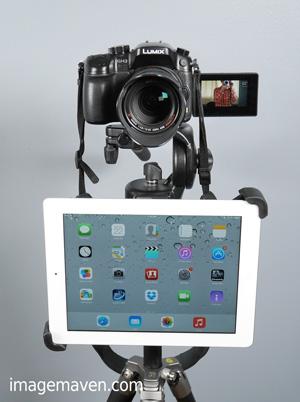 Marlene's iPad teleprompter